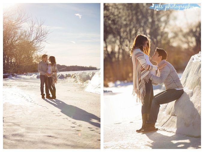 Outdoor maternity photographer, winter on ice, Belleville