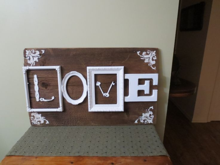 Salvage LOVE sign