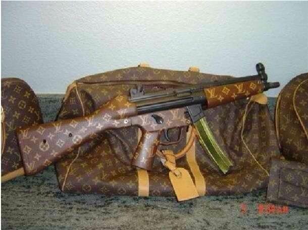 my wifes Louis Vuitton gun