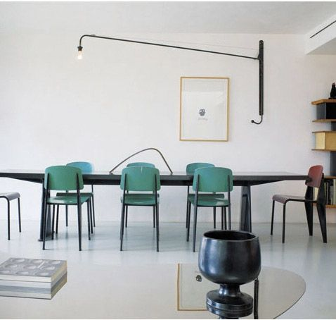 French modernity with designs by Jean Prouvé and Charlotte Perriand.