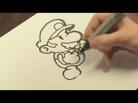How To Draw Mario Of Mario Bros