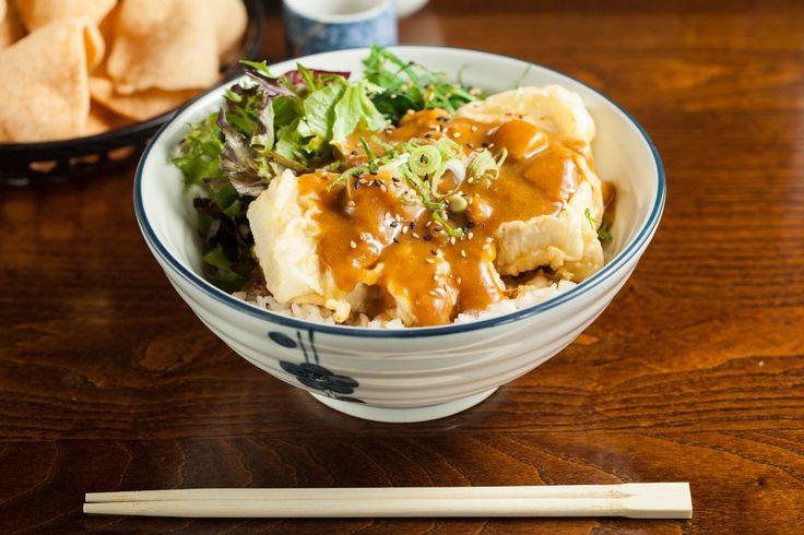 Rice Dishes - Deep Fried Tofu Tempura & Katsu curry
