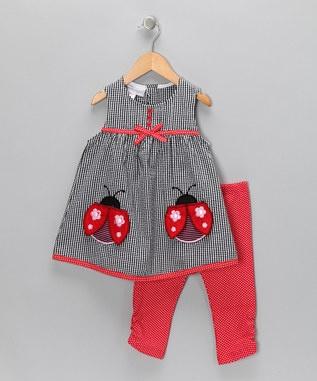 Samara - Ladybug Seersucker Tunic & Leggings - Infant, Toddler & Girls