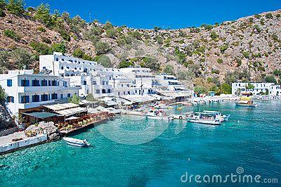 Loutro, small greek village on the southern coast of Crete island