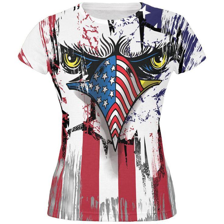 Patriot Eagle All Over Juniors T-Shirt