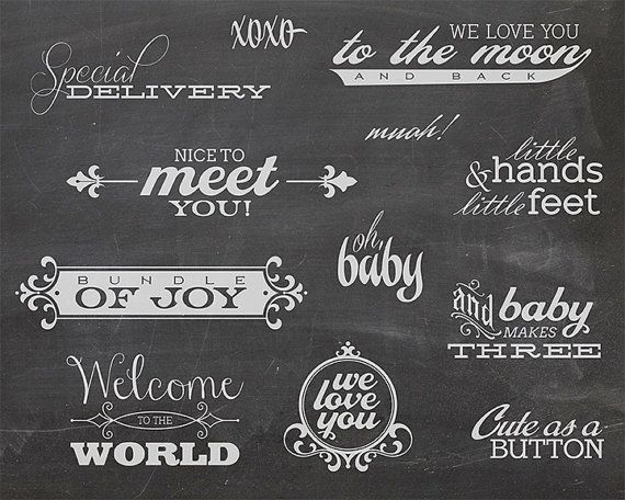 12 Word Overlays - Baby Newborn Phrases Photo Overlay - Text Photo Overlay - Quote Baby Newborn Photo Words Phrase NSTANT DOWNLOAD