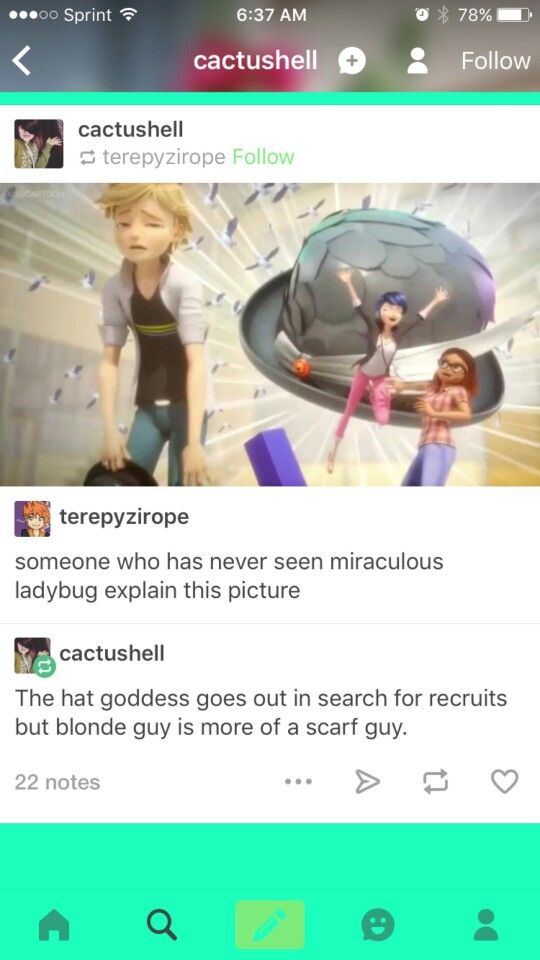 No I don't think you understand…we said someone who HASN'T seen miraculous ladybug