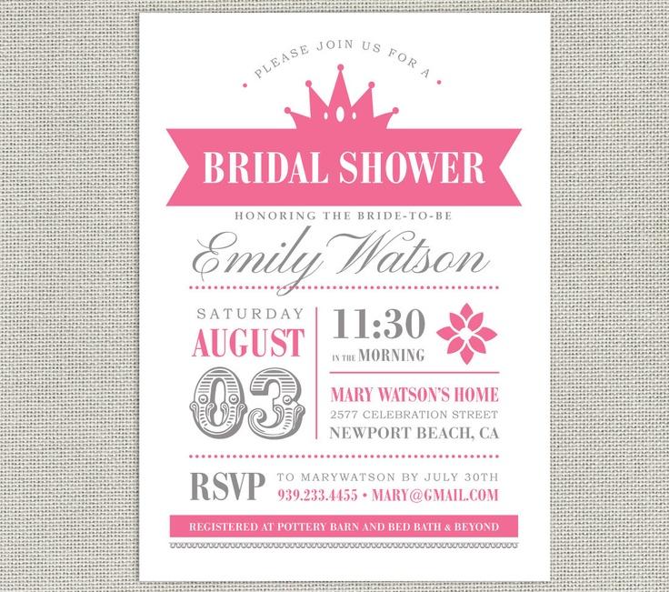Printable Bridal Shower Invitation - retro style - VINTAGE ROYAL PRINCESS Collection - pink & gr. $20.00, via Etsy.