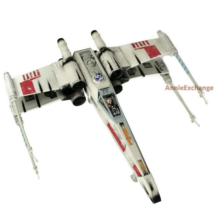 STAR WARS Electronic Power F/X Red 5 LARGER SCALE X-Wing Fighter R2-D2 1998 POTF #Kenner