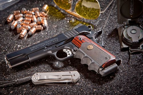 Custom 1911 Pistol. The beautiful Cabot 1911 pistol.  A pistol that looks like it was made by a watchmaker.