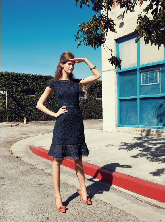 Adrianna Papell Lace Fit & Flare Dress #Nordstrom #FebruaryCatalog