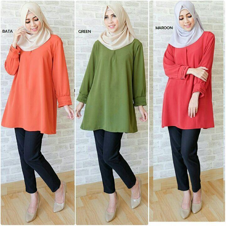Baju Atasan Ratna Basic Blouse Online - https://www.butikjingga.com/baju-atasan-ratna-basic-blouse