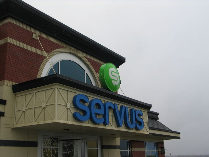 Servus Credit Union- Delton Branch in St. Albert, Alberta.