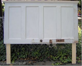 Phantastic phinds 25 ways to repurpose reuse old for How to make a headboard out of a door