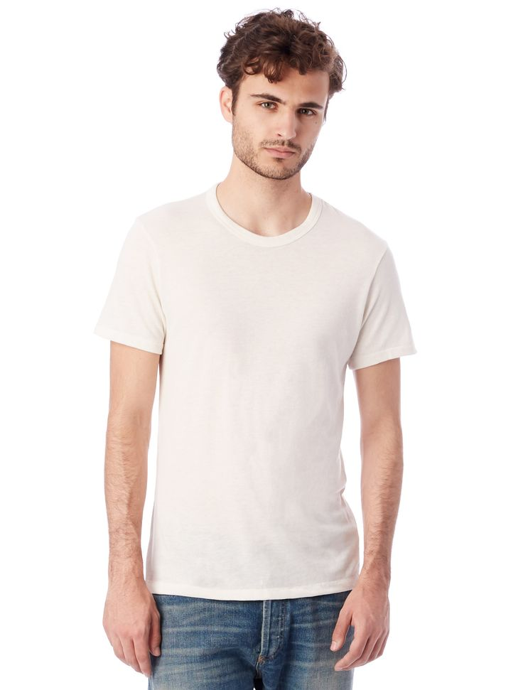 Alternative Apparel: 01973E1: Men: Eco-Jersey Crew T-Shirt: Eco Ivory #1