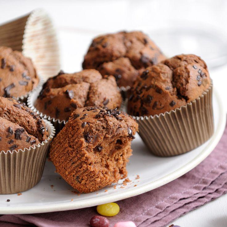 Découvrez la recette Muffin tout chocolat sur cuisineactuelle.fr.