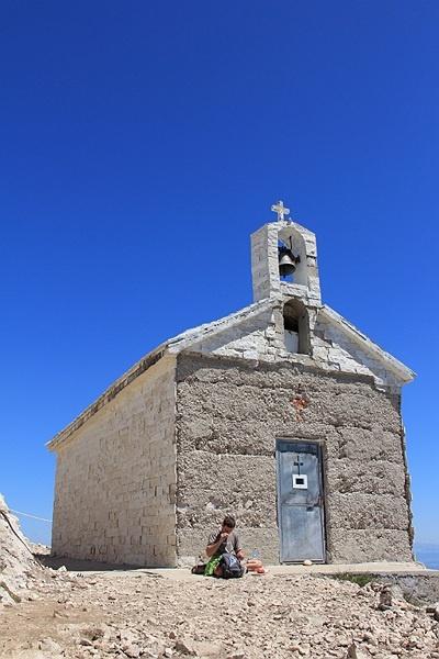The chapel on the hill of Sv Jure in Nature Park Biokovo in Croatia #croatia #chorwacja #biokovo #svjure