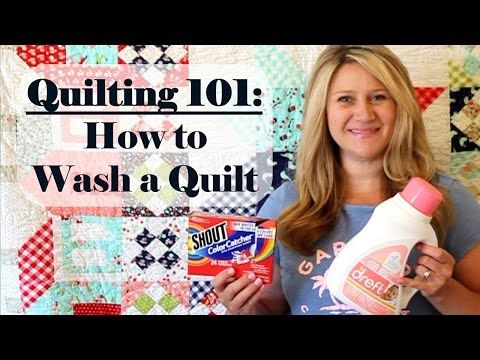 Q101 How to Wash a Quilt - YouTube