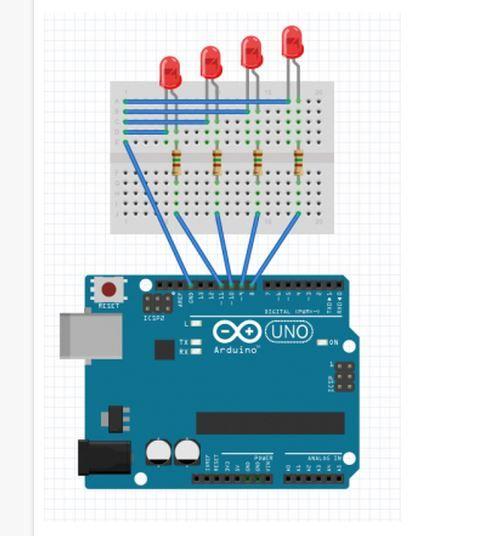 Piscando LEDs com Arduino sequencialmente  #arduino #LED #eletronica
