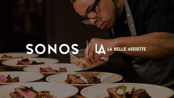 La Belle Assiette et Sonos pour une expérience gastromusicale