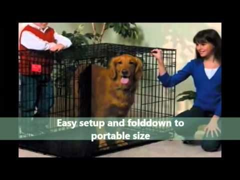 Pet Products Online | Midwest Folding Dog Crate | PetProductsOnline - YouTube  Click http://petproductsonline.info/go/foldingmetaldogcrate/  to BUY the Midwest Life Stages Single-Door Folding Metal Dog Crate. Just $107.95