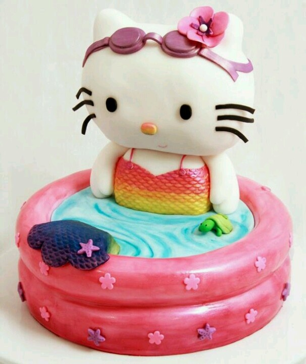70 best 2 Hello Kitty cakes images on Pinterest Hello kitty cake