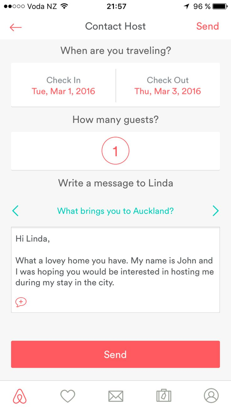 Airbnb – When contacting multiple hosts the last message is copied and the name of the host is automatically changed to the name of the new host.