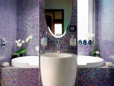 Purple Bathroom   Those Tiles Are Amazing
