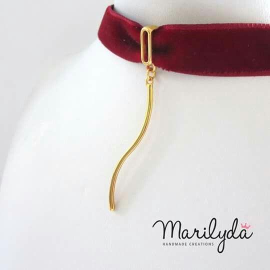 """Velvet long flow"" Marilyda Tσόκερ από βελούδινη κορδέλα και ιδιαίτερο επιχρυσωμένο λεπτεπίλεπτο charm!!!! Διαθέσιμο και σε μπορντό."