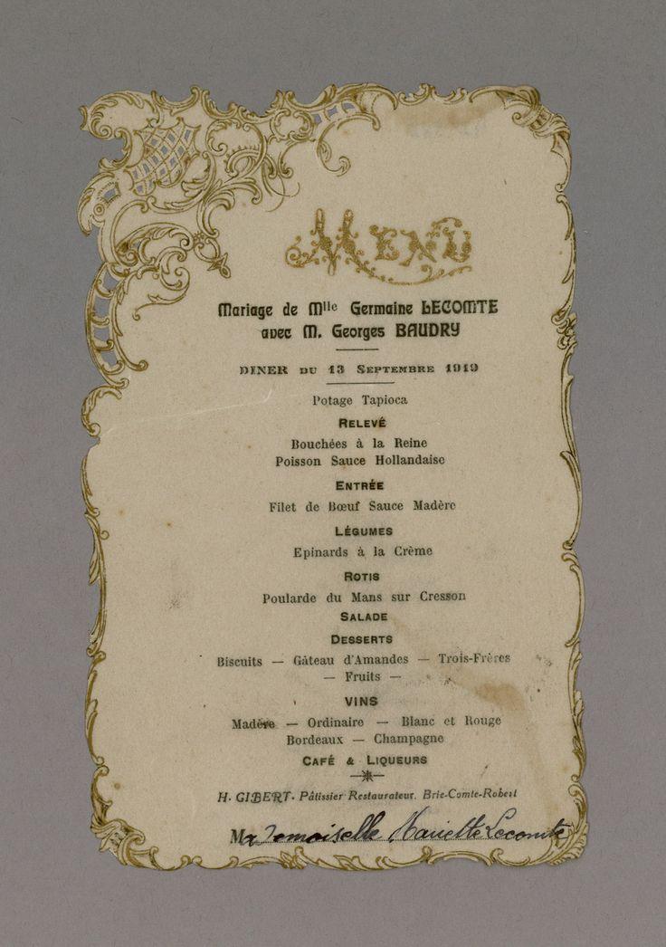 Top 72 best French Vintage Menus - Menus anciens images on Pinterest  NT63