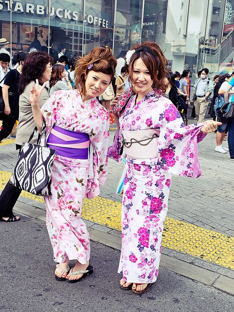 Kimono Girls, Shibuya by tokyofashion, via Flickr