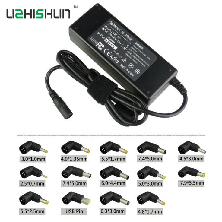 19V 4.74A 90W Universal Laptop Power Adapter Charger with connectors for Acer ASUS DELL Lenovo Toshiba Samsung AC Laptop tablet