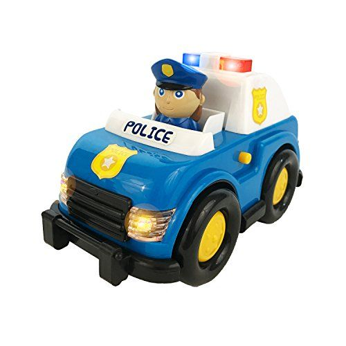 Boley Light and Sound Police Car Toy - Electric siren with flashing lights - perfect educational toy for toddlers that seek imaginative and pretend play  NICE CAR: Great toddler toy police car that comes with a stand alone police woman who can be stationed at the driver seat or in the rear watching out for bad guys during a stakeout!  DESIGN: Boley toy police cars is equipped with a button to play her electric siren and flashing lights, letting the streets know that she is ready to sav...