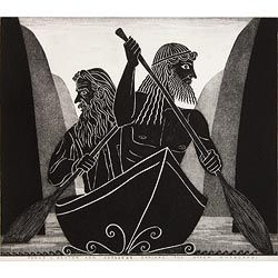 'James K Baxter and Odysseus explore the Upper Whanganui' by Marian Maguire