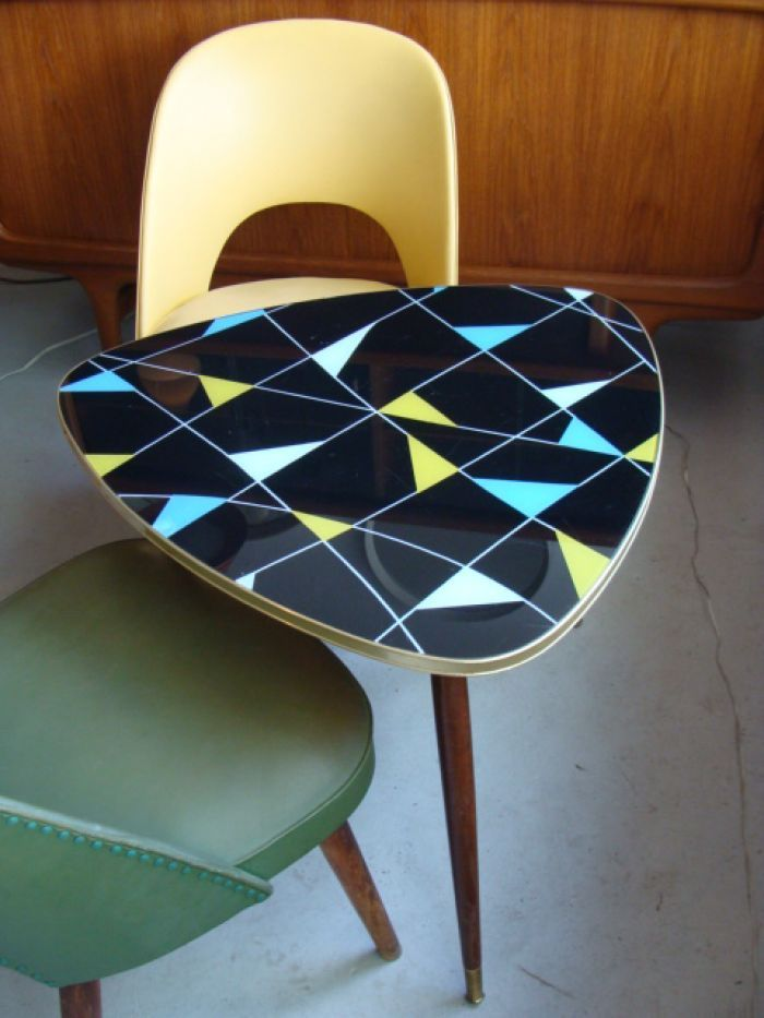 Formica Tripod Table | Mid Century Modern