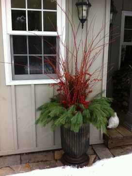 Our Winter Containters - farmhouse - holiday outdoor decorations - other metro - The Branch Ranch