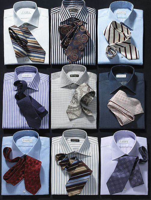 mens shirts and ties