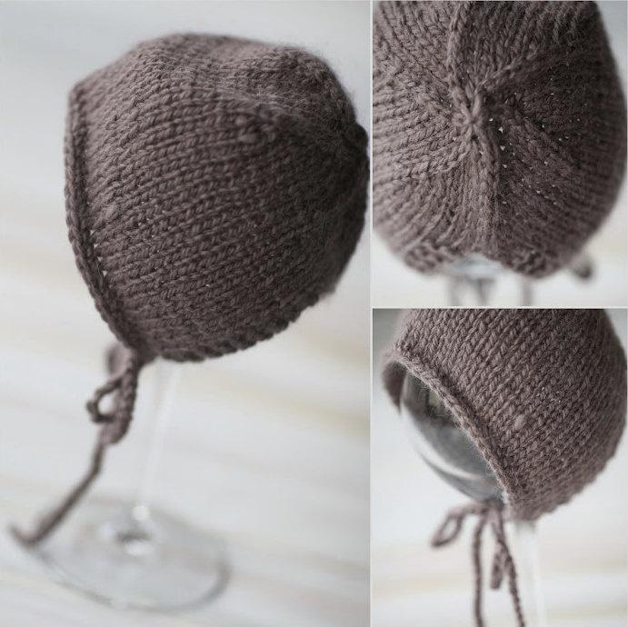 Hand Knit Simple Sweet Bonnet