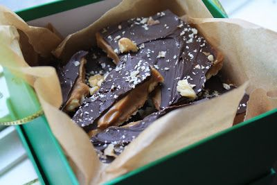Fredericton Walnut toffee - a Christmas classic in New Brunswick. It's buttery with just the right amount of crunch. http://bridgetsgreenkitchen.blogspot.ca/2012/12/homemade-toffee-easy-way.html