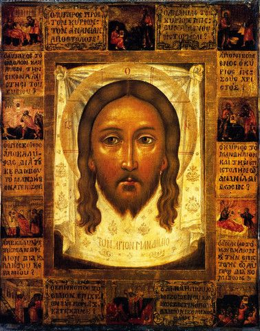 Mandylion (History of Gaining the Image) 18th Century Icon