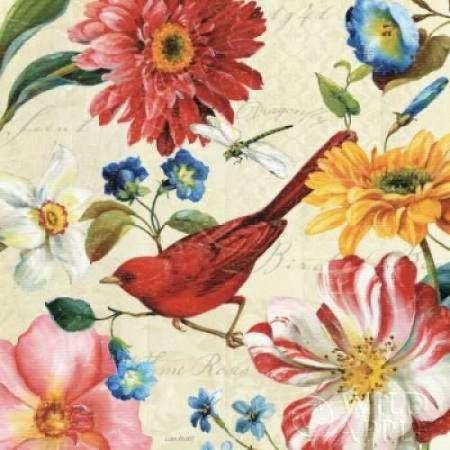 Rainbow Garden III - Cream Canvas Art - Lisa Audit (24 x 24)