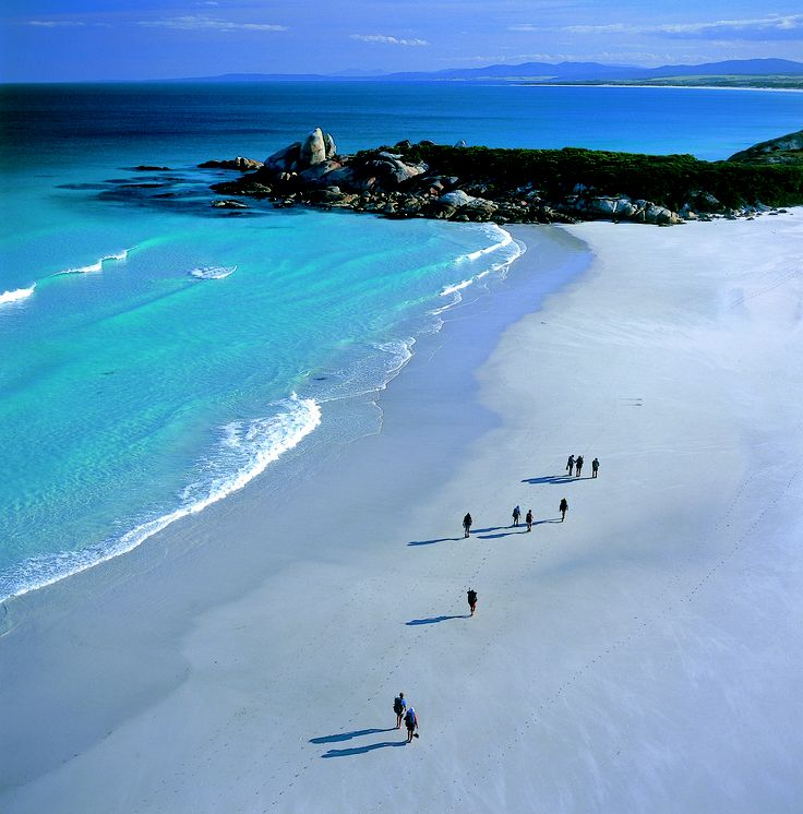 Stunning beaches along the Bay of Fires Coastline.  Bay of Fires Lodge Walk