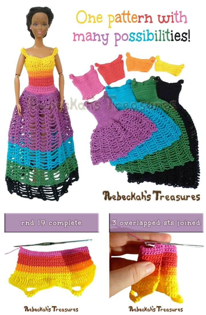 20 Free Crochet Barbie Clothes Pattern Crochet Pinterest
