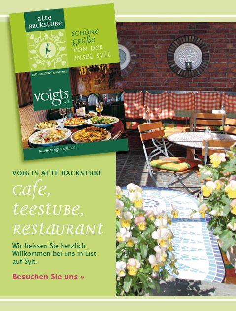 """Coffee, Tee and Restaurant in List """"alte Backstube""""  http://www.altebackstube.de/ab_home.html"""