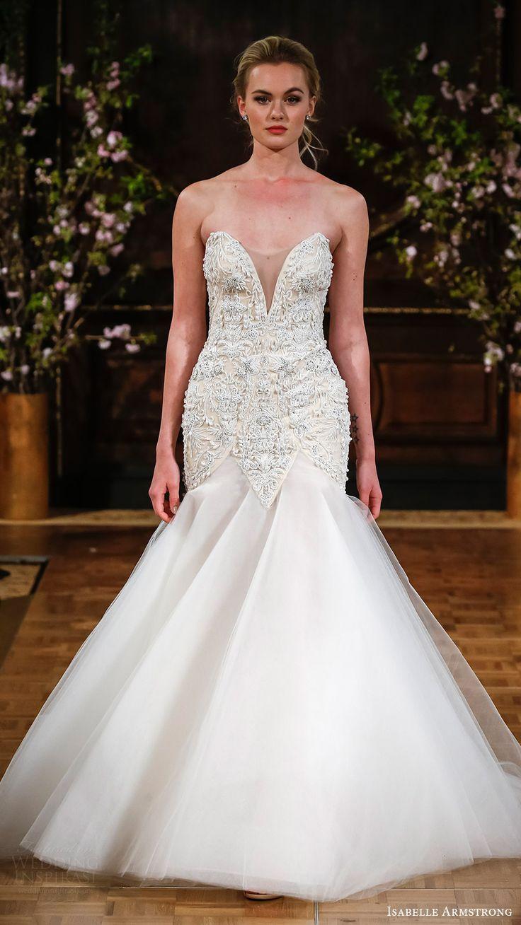 isabelle armstrong bridal spring 2017 strapless split sweetheart fit flare wedding dress (shane) mv