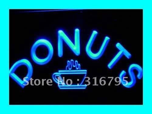 i072 Donuts Coffee Enseigne Lumineuse LED Neon Light Sign On/Off Switch 20+ Colors 5 Sizes