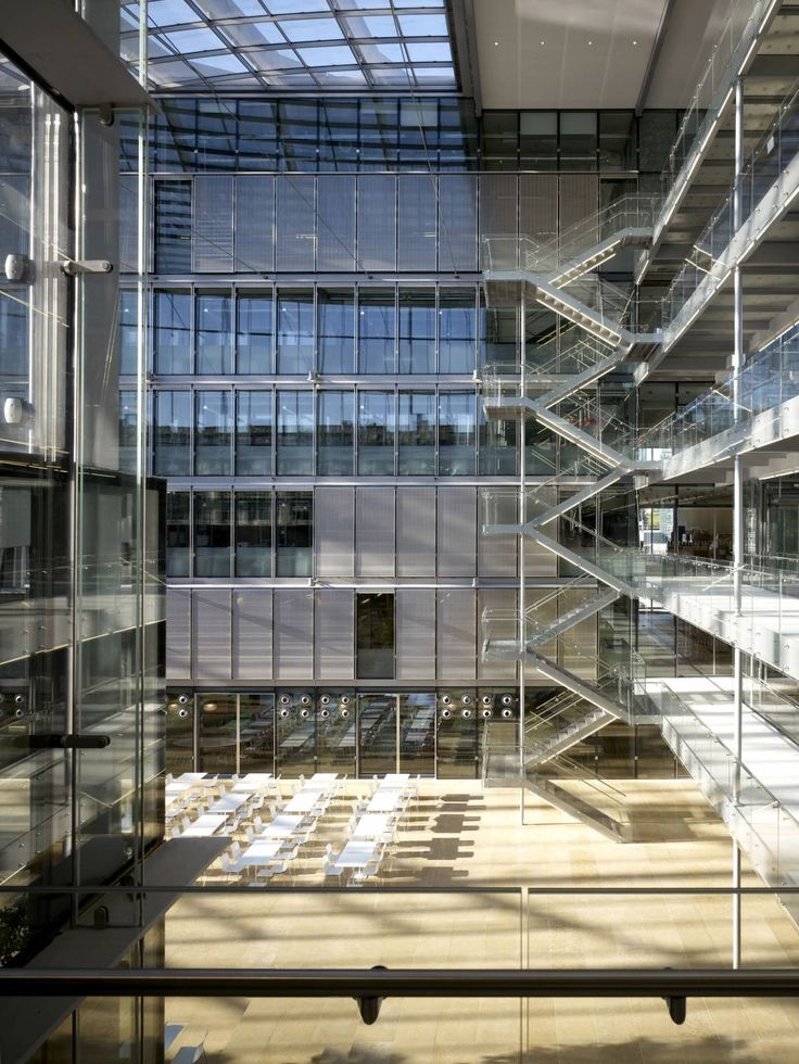 Mackay + Partners  Merck Serono Interiors - atrium.  Geneva, Switzerland