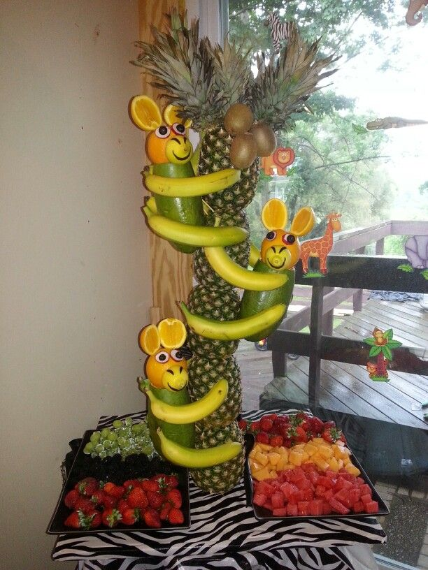 Safari Monkey Fruit Tree Fruit Veggies And Candy Art