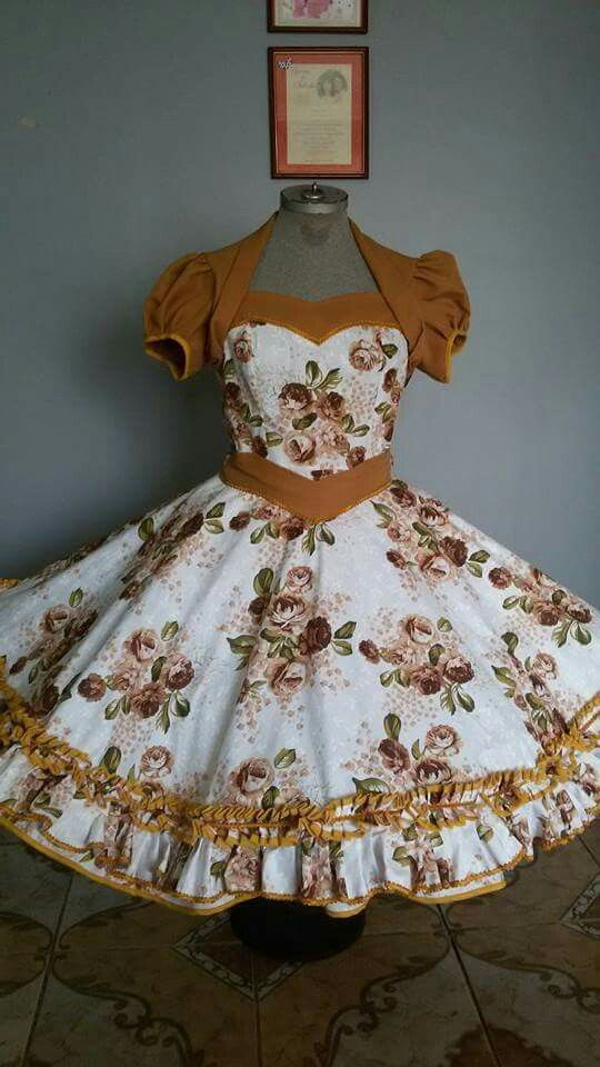 I love full dresses with a very full petticoat