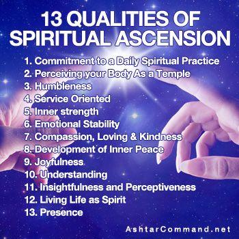 13 Qualities of Spiritual Ascension - Ashtar Command - Spiritual Community Network #spiritual